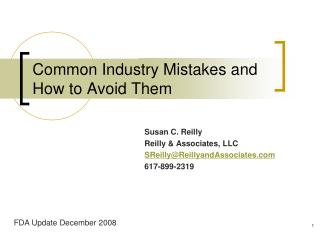 Common Industry Mistakes and How to Avoid Them
