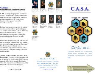 C.A.S.A. Casas Abiertas para Servir y Amar
