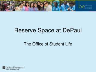 Reserve Space at DePaul