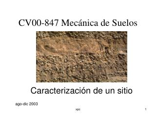CV00-847 Mecánica de Suelos