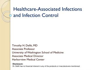 Healthcare-Associated Infections and Infection Control