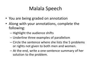 Malala Speech