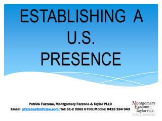 Establishing a U.S. Presence