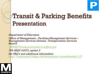 Transit & Parking Benefits Presentation