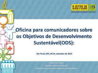 Odilon Luís Faccio Secretário Executivo Adjunto Movimento Nacional pela Cidadania e Solidariedade