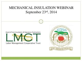 MECHANICAL INSULATION WEBINAR September 23 rd , 2014