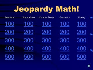 Jeopardy Math!