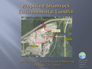 Proposed Shamrock Environmental Landfill