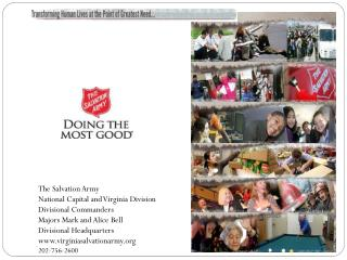 The Salvation Army   National Capital and Virginia Division Divisional Commanders