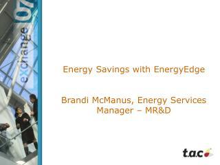 Energy Savings with EnergyEdge
