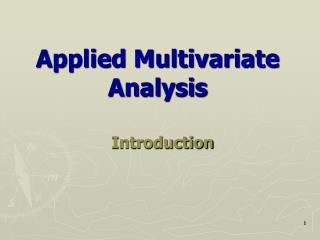 Applied Multivariate Analysis
