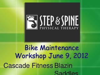 Bike Maintenance Workshop June 9, 2012
