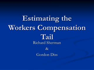 Estimating the Workers Compensation Tail