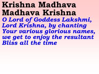Old 664_New 793 Krishna Madhava Madhava Krishna