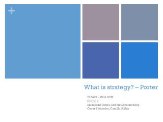 What is strategy? – Porter