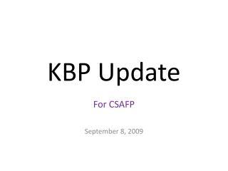 KBP Update