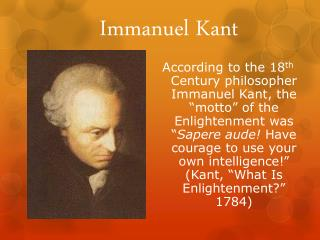 immanuel kants philosophy essay Immanuel kant essay immanuel kant essay kant theory and justice a certain immanuel kant, whose philosophy insists that lying is wrong in every circumstance.