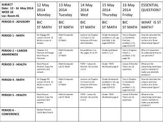WBC 12-16 May 2014