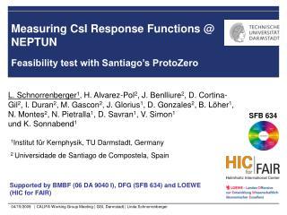 Measuring CsI Response Functions @ NEPTUN
