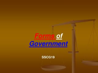 Forms  of  Government SSCG19