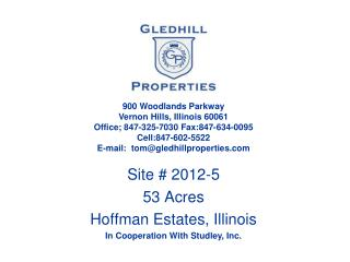 Site # 2012-5 53 Acres Hoffman Estates, Illinois In Cooperation With Studley, Inc.