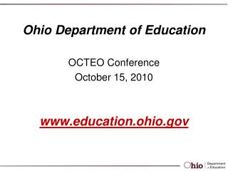 Ohio Department of Education  education.ohio