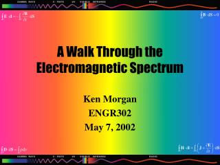 A Walk Through the Electromagnetic Spectrum