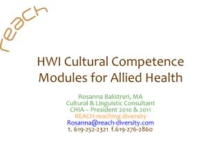 HWI Cultural Competence Modules for Allied Health
