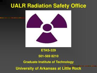 UALR Radiation Safety Office