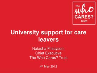 University support for care leavers