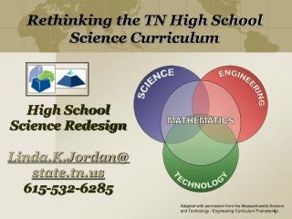 High School Science Redesign Linda.K.Jordan@state.tn 615-532-6285