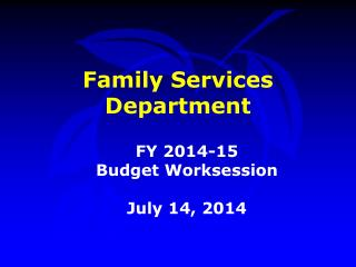 Family Services Department