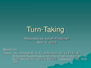 Turn-Taking