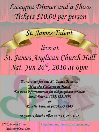 St. James Talent