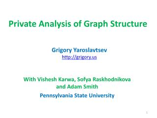 Private Analysis of Graph Structure