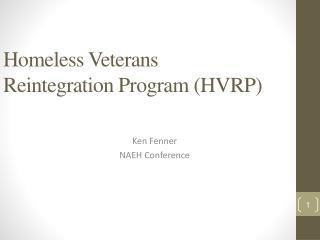 Homeless Veterans Reintegration Program (HVRP)