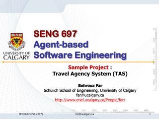 SENG 697 Agent-based Software Engineering