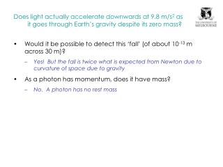 Would it be possible to detect this 'fall' (of about 10 -13 m across 30 m)?
