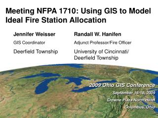 Meeting NFPA 1710: Using GIS to Model Ideal Fire Station Allocation