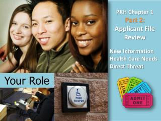 PRH Chapter 1 Part 2:  Applicant File Review