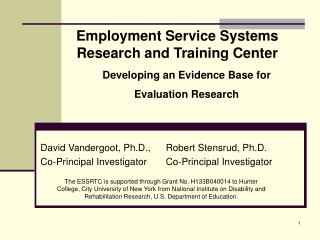 Employment Service Systems Research and Training Center