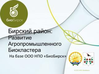 Бирский район: Развитие Агропромышленного Биокластера
