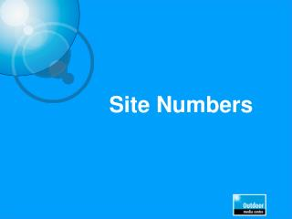 Site Numbers