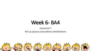 Week 6- BA4