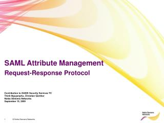 SAML Attribute Management Request-Response Protocol