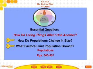 Populations Pgs. 500-507