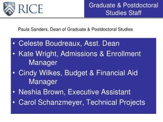 Paula Sanders, Dean of Graduate & Postdoctoral Studies