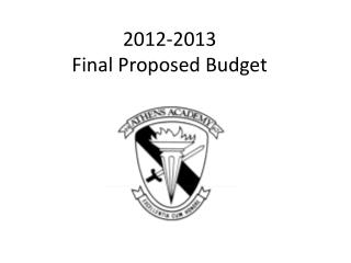2012-2013 Final Proposed Budget