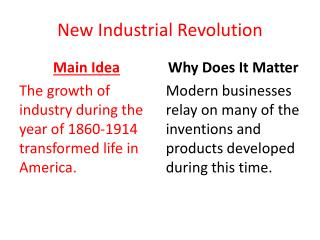 New  Industrial Revolution