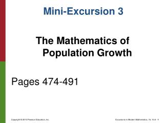 The Mathematics of Population Growth Pages 474-491